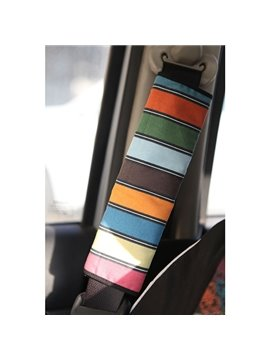 Concise Multi-Color Stripe Style Car Seat Belt Cover