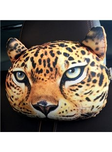 Humorous Personalized Cool Leopard Face Car Seat Pillows