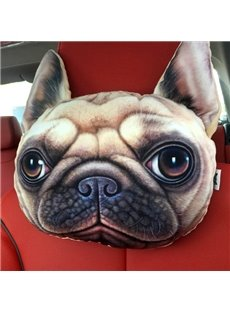 Personalized Ugly Dog Face Car Seat Pillows