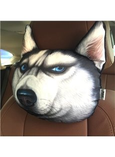 Funny Personalized Husky Face Car Seat Pillows
