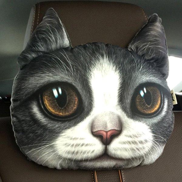 Humorous Personalized Kitten Face Car Seat Pillows