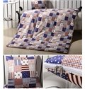 Comfortable Quillow Stars Stripes Patterned Blanket Car Pillow