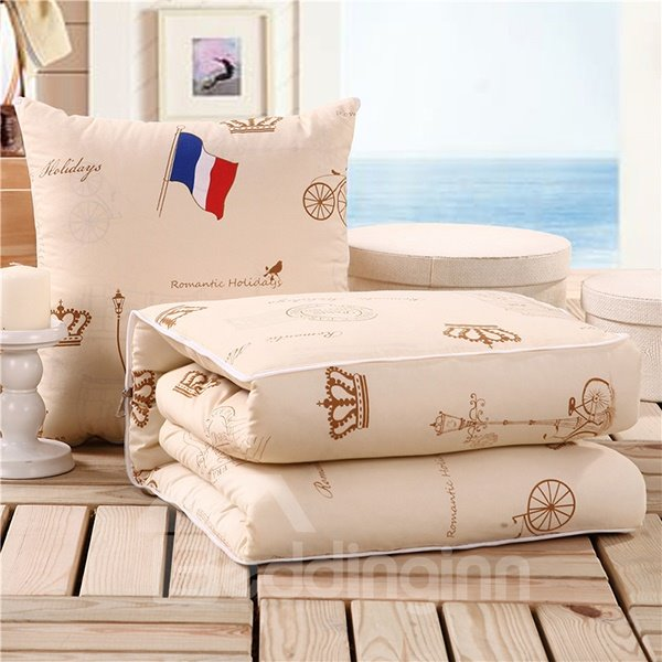 Cozy Simple Designed Quillow Convertable Blanket Car Pillow