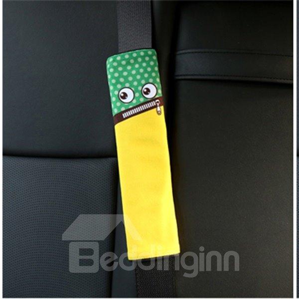 Creative Cartoon Figured Zip Mouth Monster Seat Belt Cover