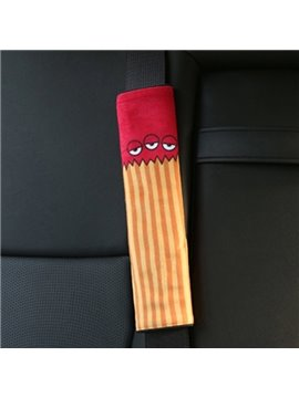 Creative Cartoon Figured Triple Eyes Monster Seat Belt Cover