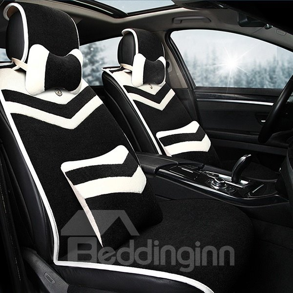 Luxurious Elegent Designed Wool Premium Car Seat Cover Set