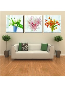 Beautiful Flower Bouquets Canvas 3-Panel Wall Art Prints