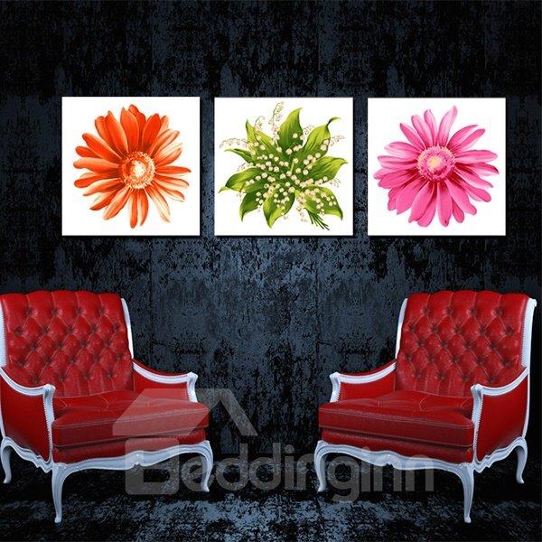 Gorgeous Flower Petal Close-Up Canvas 3-Panel Wall Art Prints