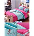 Delicate Mermaid Embroidered 100% Cotton Kids Duvet Cover Set