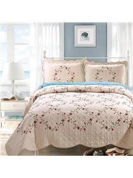 Fresh Small Flowers Design European Style 3-Piece Cotton Bed in a Bag