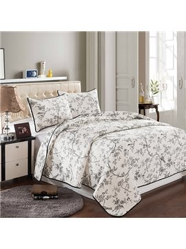 European Pastoral Flowers Style 3-Piece Bed in a Bag