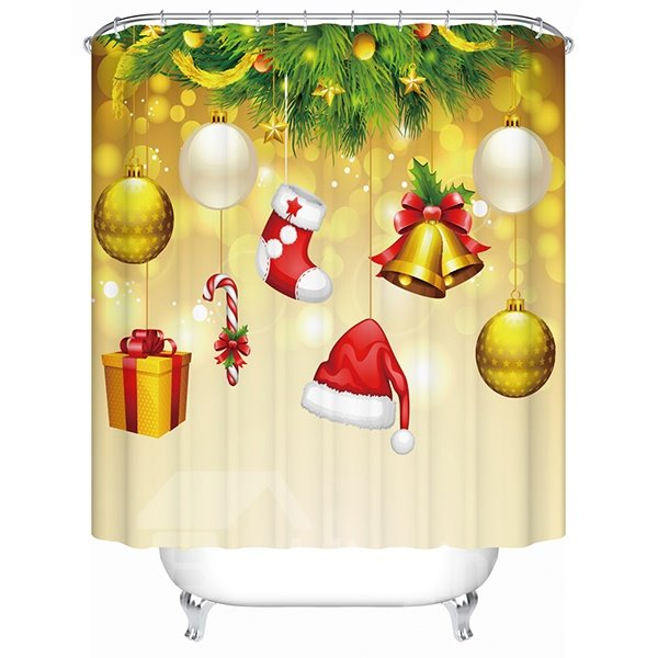 Vibrant Lovely Christmas Ingredients Mixed 3D Shower Curtain 11519011