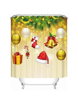 Vibrant Lovely Christmas Ingredients Mixed 3D Shower Curtain
