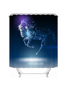 Unique Esthetic Design Snowflake Horse Shower Curtain