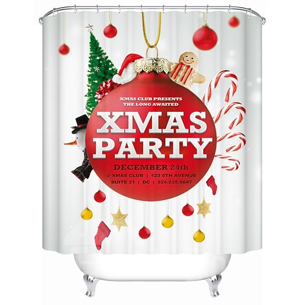 Festive Brisk Merry Christmas Party Printing 3D