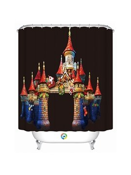 Fabulous Mysterious Unique Christmas Castle Printing 3D Shower Curtain