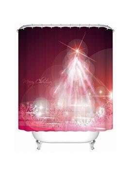 Fantastic Charming Unique Design Christmas Celebrating View 3D Shower Curtain