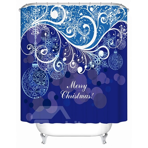 Fabulous Charming Attractive Lines and Baubles Christmas Theme 3D Shower Curtain
