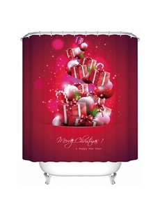 Wonderful Festive Happy Christmas Presents and Baubles Shower Curtain