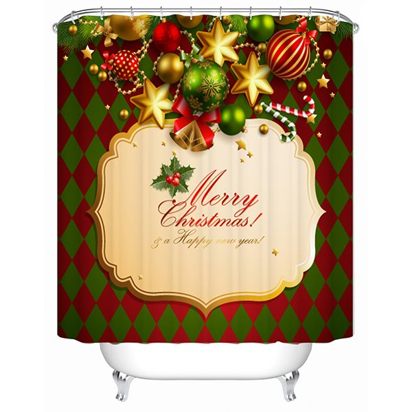 Wonderful Stunning Happy Christmas Ingredients Shower Curtain