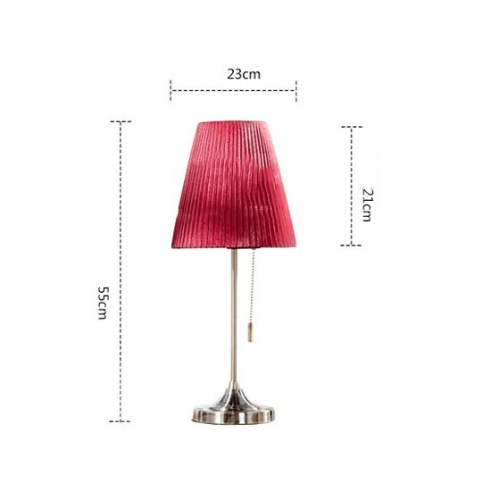 Romantic Bedroom Bedside Red Wedding Table Lamp