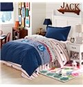 100% Cotton Polka Dot and Stripes Pattern Kids Duvet Cover Set