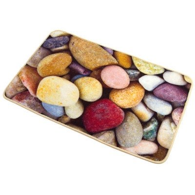 Wonderful Colorful Pebbles Anti-Slipping Water-Resistant Kitchen Doormat