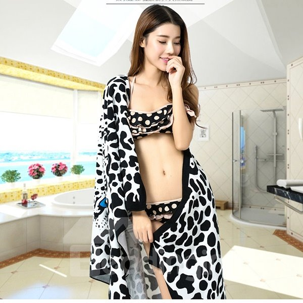 Top Selling Noble Classical Leopard Print Bath Tower