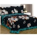White Wintersweet Print 3-Piece Polyester Bed in a Bag