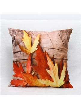 3D Maples Print Cozy Throw Pillow Case