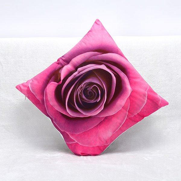 3D Blooming Rose Printing Throw Pillow Case