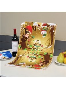Fabulous Brisk Fairytale Forest Printing Ultrafine Fiber Towel