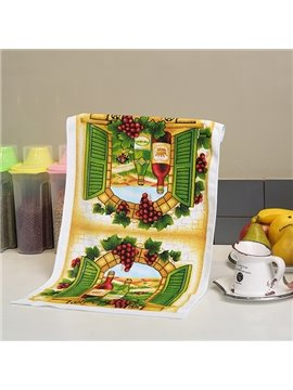 Fashion New Lovely Fruits and Red Wine Ultrafine Fiber Tower