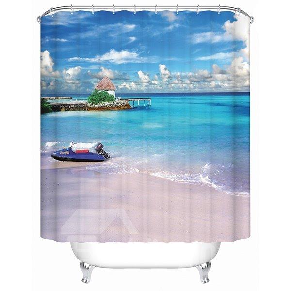 Charming Beautiful Sandbeach Scenery 3D Shower Curtain
