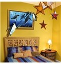 Cute Cartoon Penguins Framed Picture Nursery Removable 3D Wall Sticker