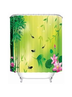Graceful Chinese Ink and Wash Painting 3D Shower Curtain