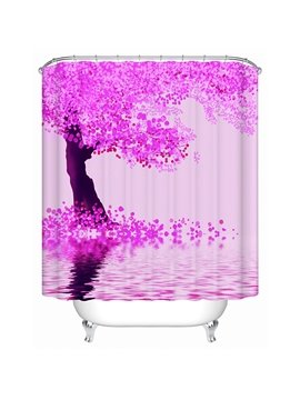 Charming Elegant Pink Tree 3D Shower Curtain