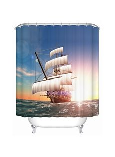 Resplendent  Make Sail Scenery 3D Shower Curtain