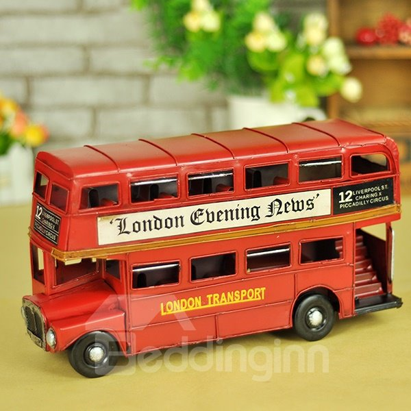 Classic Mini London Bus Double Decker Desktop Decorations