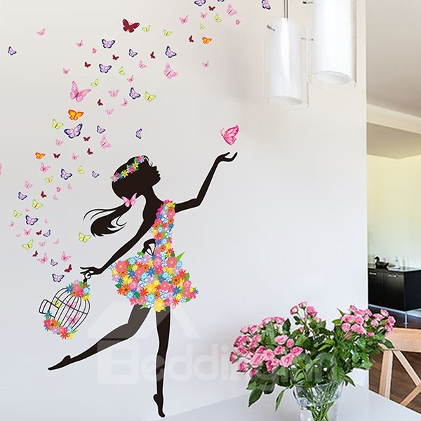 wonderful flower fairy and butterfly bedroom nursery. Black Bedroom Furniture Sets. Home Design Ideas