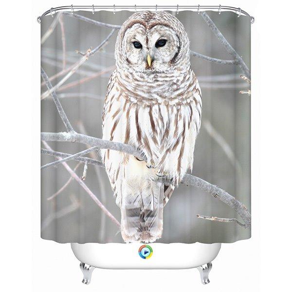 Graceful Lovely Intrepid Owl 3D Shower Curtain