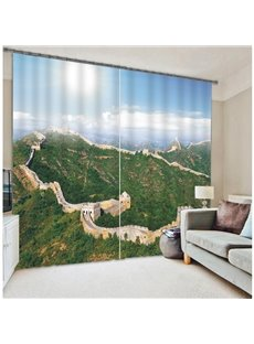 3D Great Wall Print Energy Saving Curtain