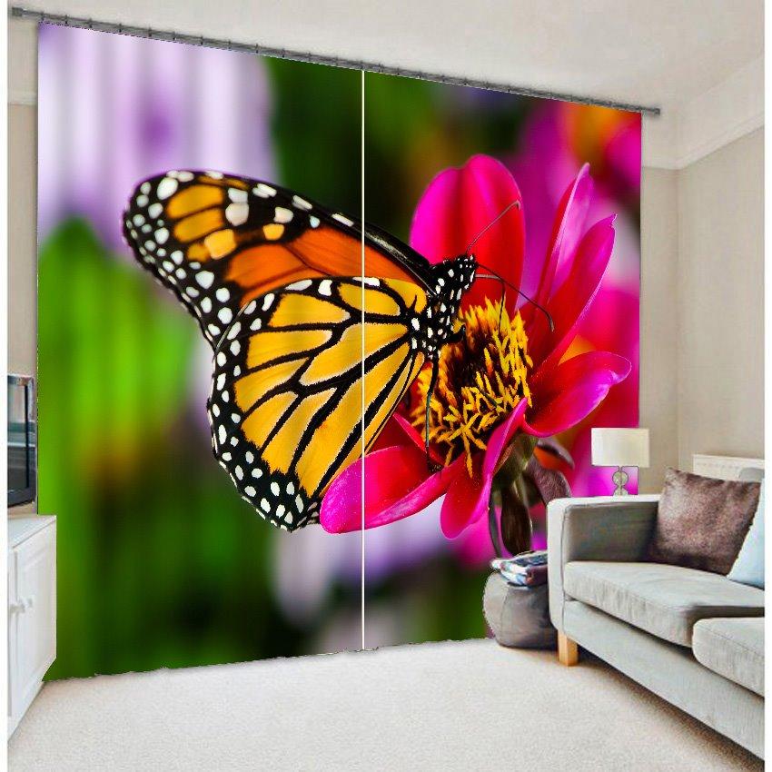 3D Beautiful Butterfly Energy Saving Curtain
