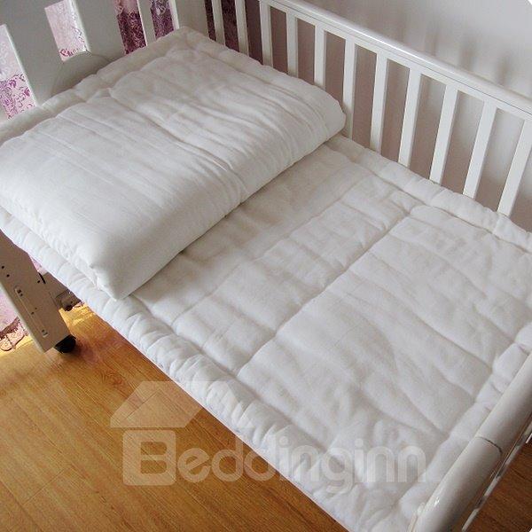 Baby Pink Polka Dot Pattern Crib Bedding Set