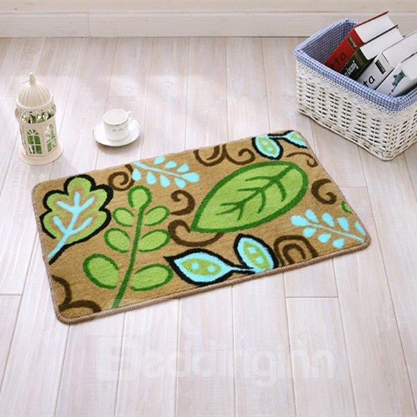 Wonderful Green Leaves Anti-Slipping Doormat