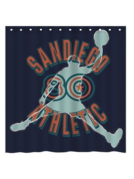 Innnovative Design Athletic Basketball Man 3D Shower Curtain