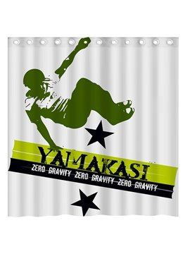 Classical French Yamakasi Parkour Pattern 3D Shower Curtain