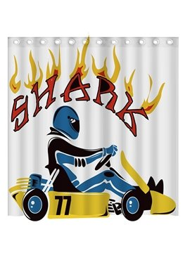 Super Cool Automobile Racing 3D Shower Curtain