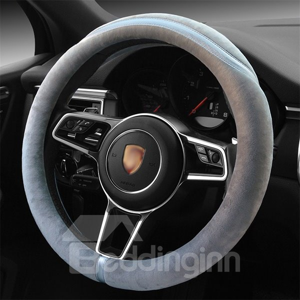 Concise Designed Super Soft Plush Steering Wheel Cover