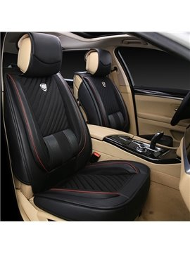 Elegant Classic Pure Color Leather Material Car Seat Cover